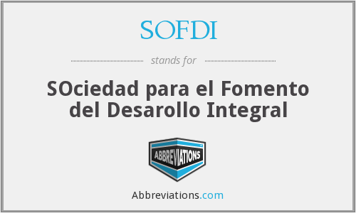What does SOFDI stand for?