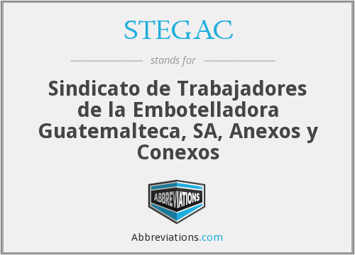 What does STEGAC stand for?