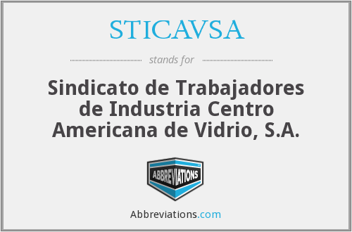 What does STICAVSA stand for?