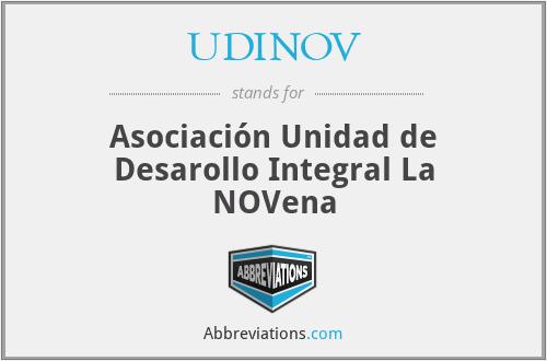 UDINOV - Asociación Unidad de Desarollo Integral La NOVena