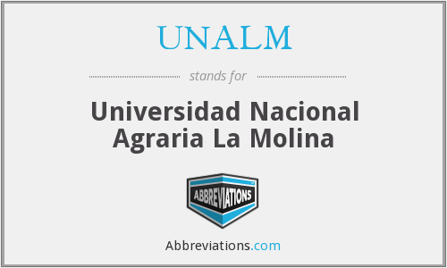 What does UNALM stand for?