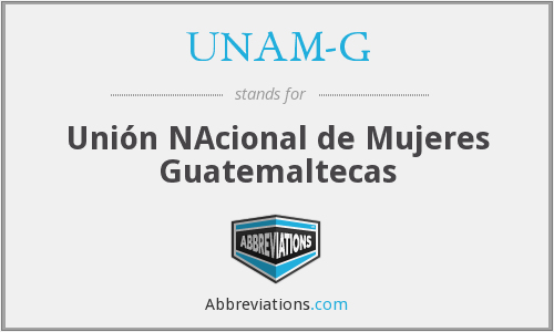 What does UNAM-G stand for?