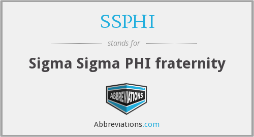 What does SSPHI stand for?
