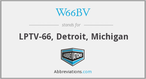 What does W66BV stand for?