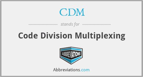 CDM - Code Division Multiplexing