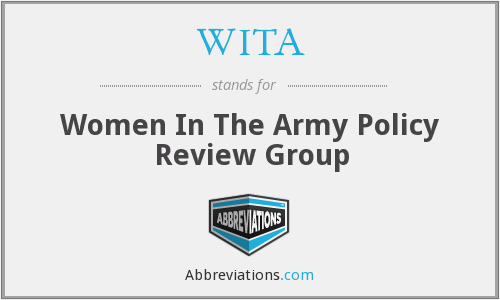 WITA - Women In The Army Policy Review Group
