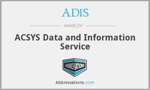 ADIS - ACSYS Data and Information Service