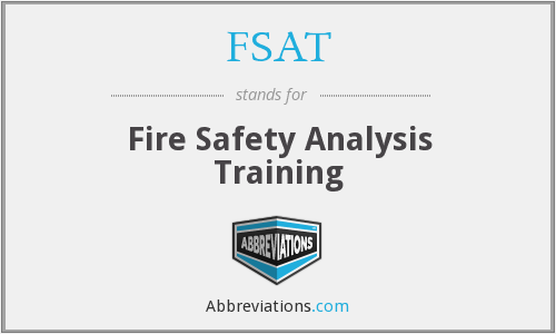 FSAT - Fire Safety Analysis Training