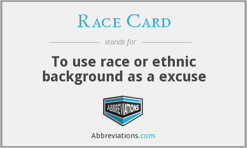 What does RACE CARD stand for?