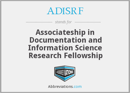 What does ADISRF stand for?