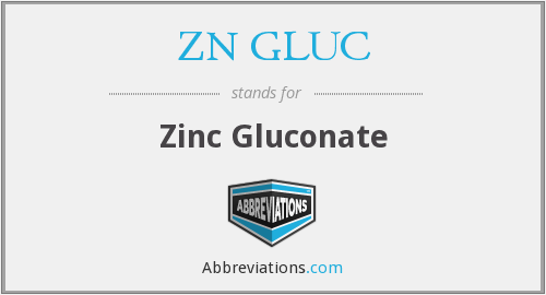 What does ZN GLUC stand for?
