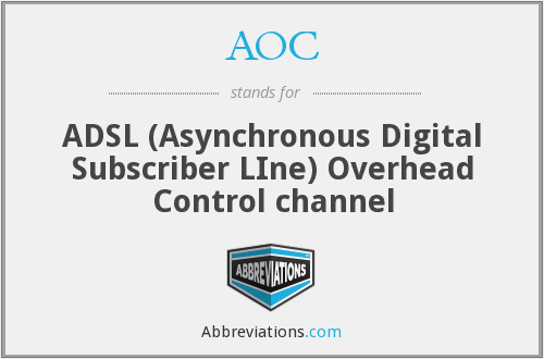 AOC - ADSL (Asynchronous Digital Subscriber LIne) Overhead Control channel
