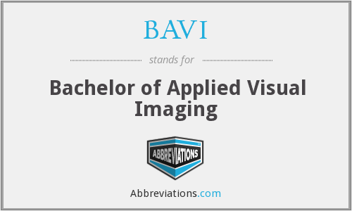 BAVI - Bachelor of Applied Visual Imaging