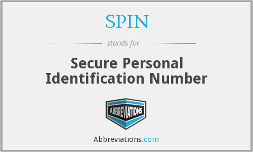 SPIN - Secure Personal Identification Number