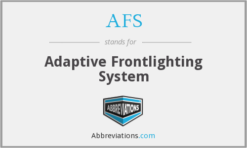 AFS - Adaptive Frontlighting System