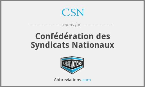 CSN - Confédération des Syndicats Nationaux