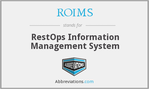 What does ROIMS stand for?