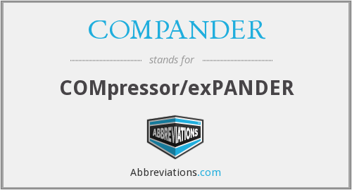 What does COMPANDER stand for?