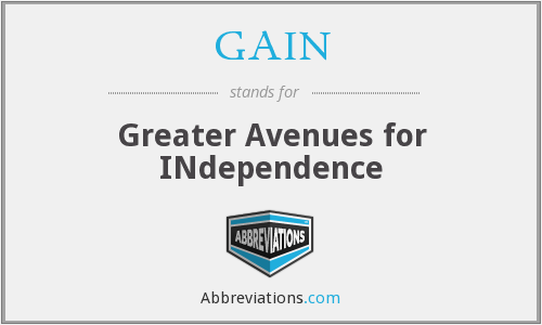 GAIN - Greater Avenues for INdependence