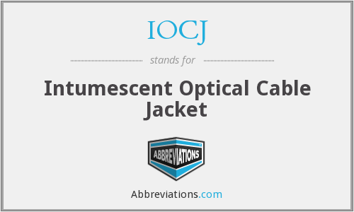 IOCJ - Intumescent Optical Cable Jacket