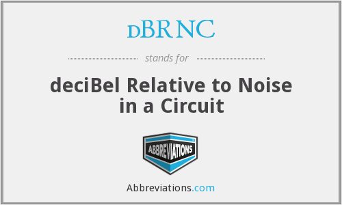 dBRNC - deciBel Relative to Noise in a Circuit