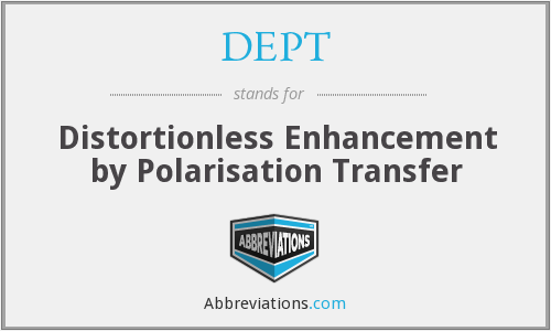 DEPT - Distortionless Enhancement by Polarisation Transfer