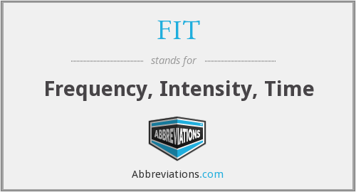 FIT - Frequency, Intensity, Time