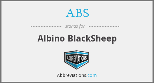 ABS - Albino BlackSheep