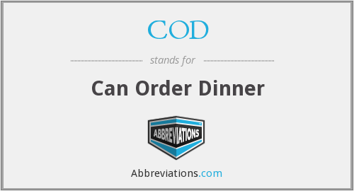 COD - Can Order Dinner