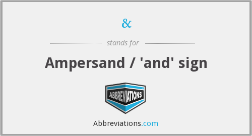 What does k ampersand r stand for?