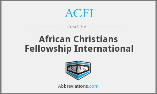 ACFI - African Christians Fellowship International