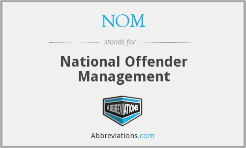 NOM - National Offender Management