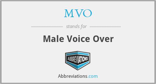 MVO - Male Voice Over