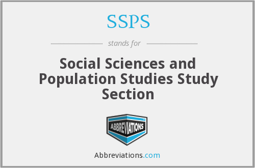 SSPS - Social Sciences and Population Studies Study Section