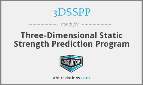 What does 3DSSPP stand for?
