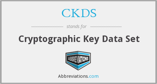CKDS - Cryptographic Key Data Set