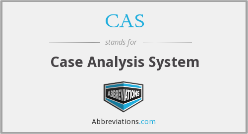 CAS - Case Analysis System