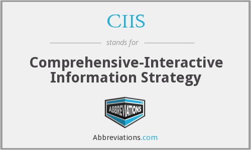 What does CIIS stand for?
