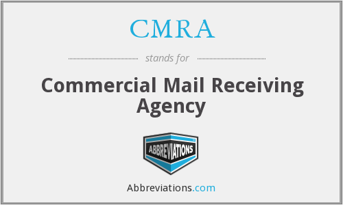 CMRA - Commercial Mail Receiving Agency
