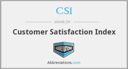 CSI - Customer Satisfaction Index