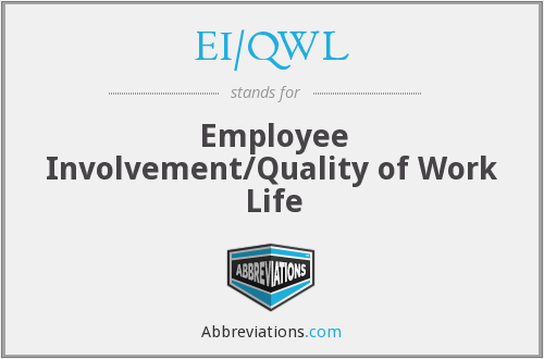 EI/QWL - Employee Involvement/Quality of Work Life