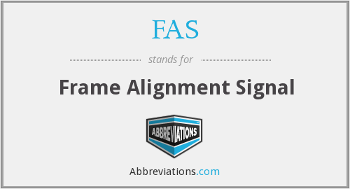 FAS - Frame Alignment Signal