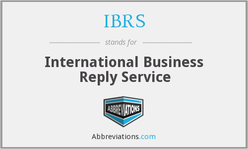 IBRS - International Business Reply Service