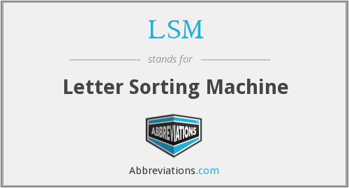 LSM - Letter Sorting Machine