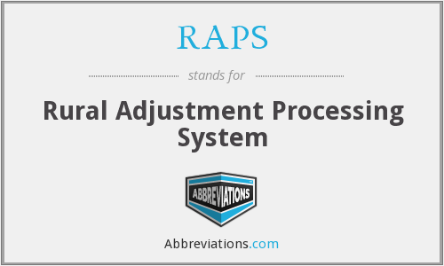 RAPS - Rural Adjustment Processing System