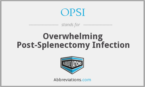 OPSI - Overwhelming Post-Splenectomy Infection