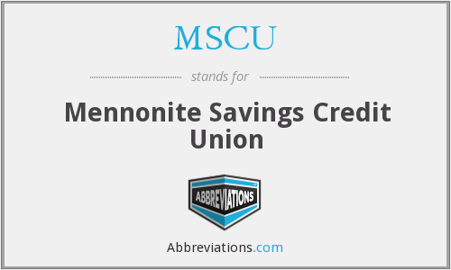 MSCU - Mennonite Savings Credit Union