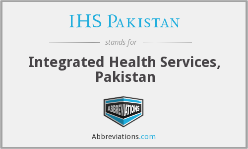 What does IHS PAKISTAN stand for?