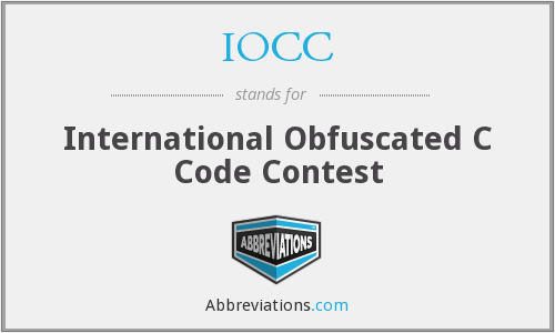IOCC - International Obfuscated C Code Contest