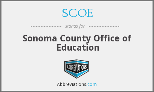 SCOE - Sonoma County Office of Education